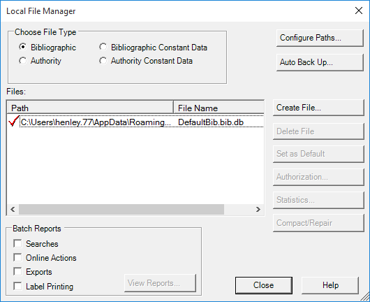 Windows 10: Create Save File on the J Drive in Connexion