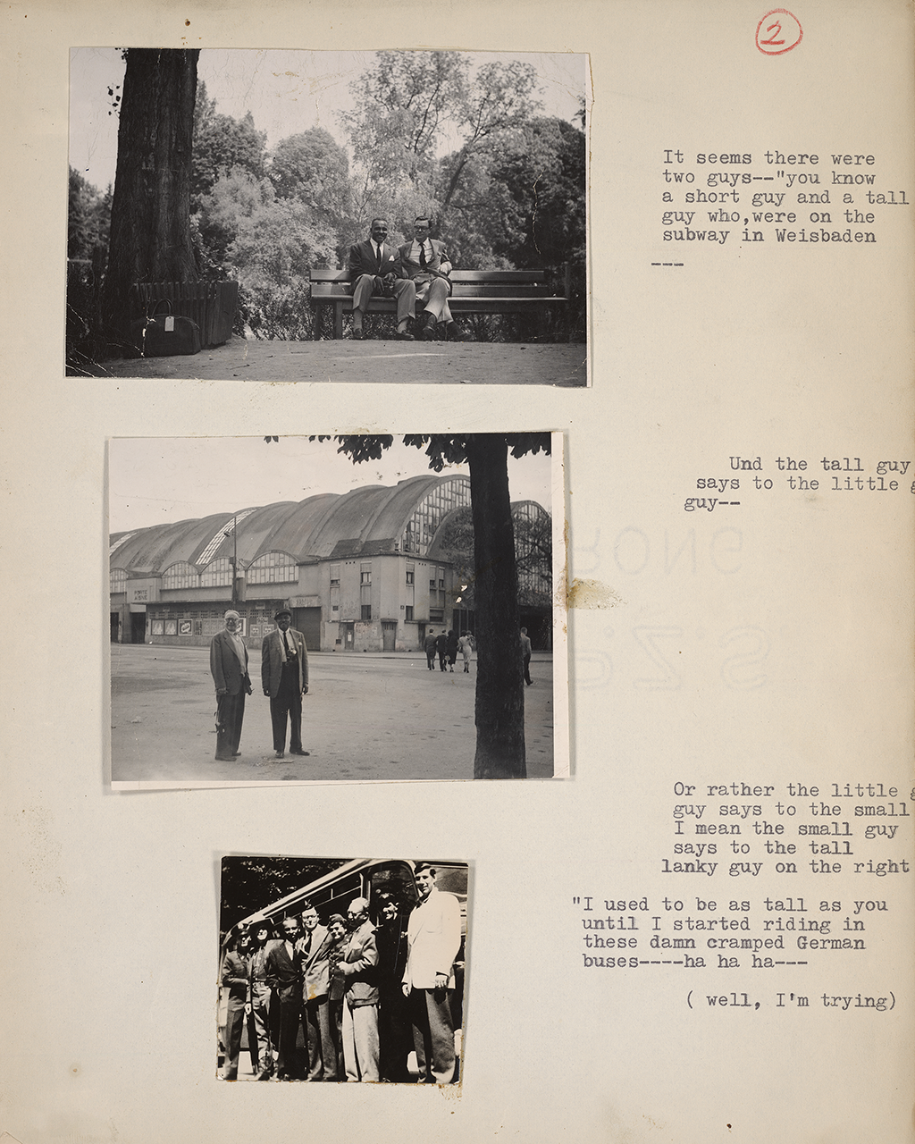 Campbell's scrapbook pages and correspondence