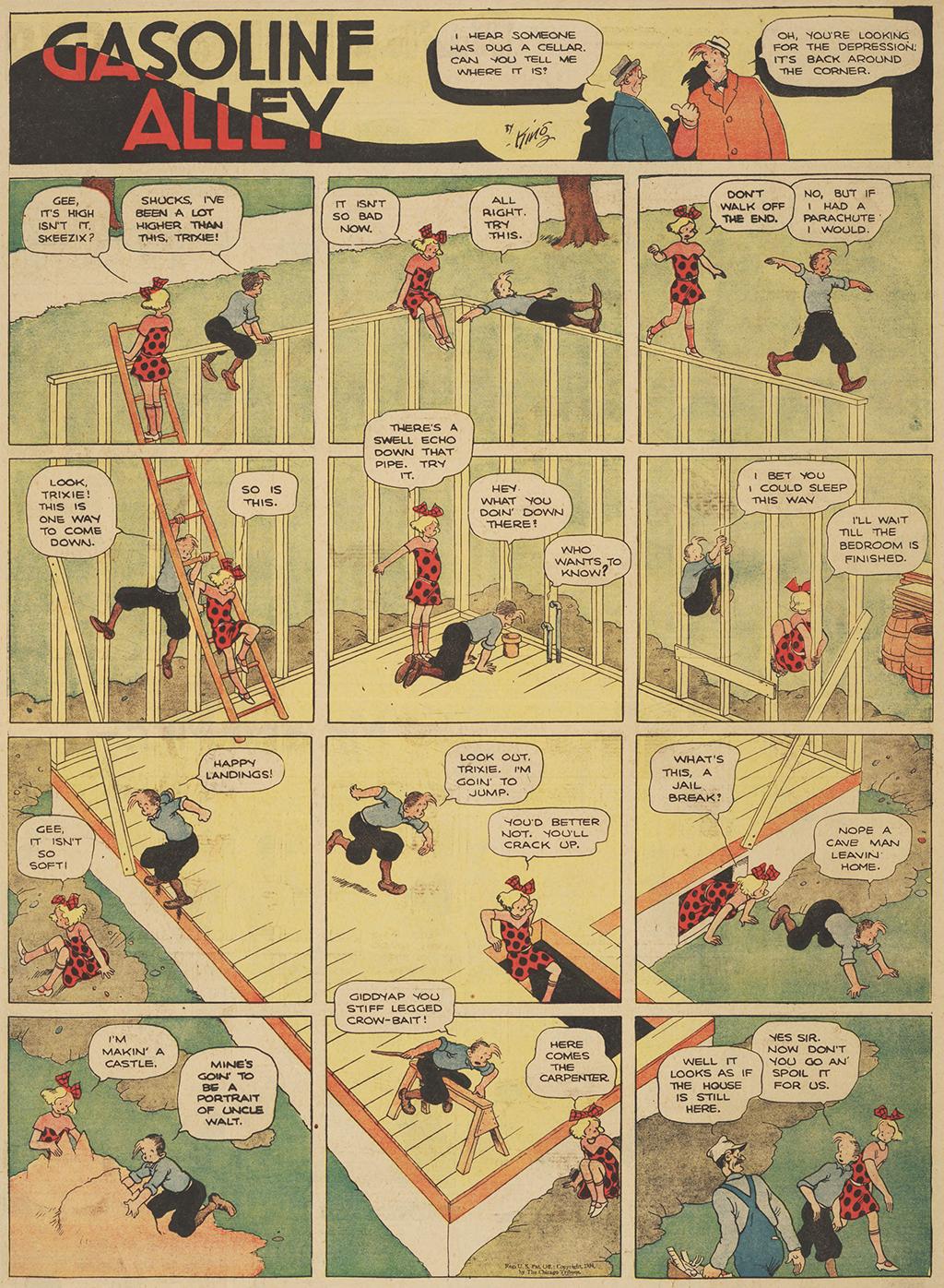 Cartoon of Gasoline Alley