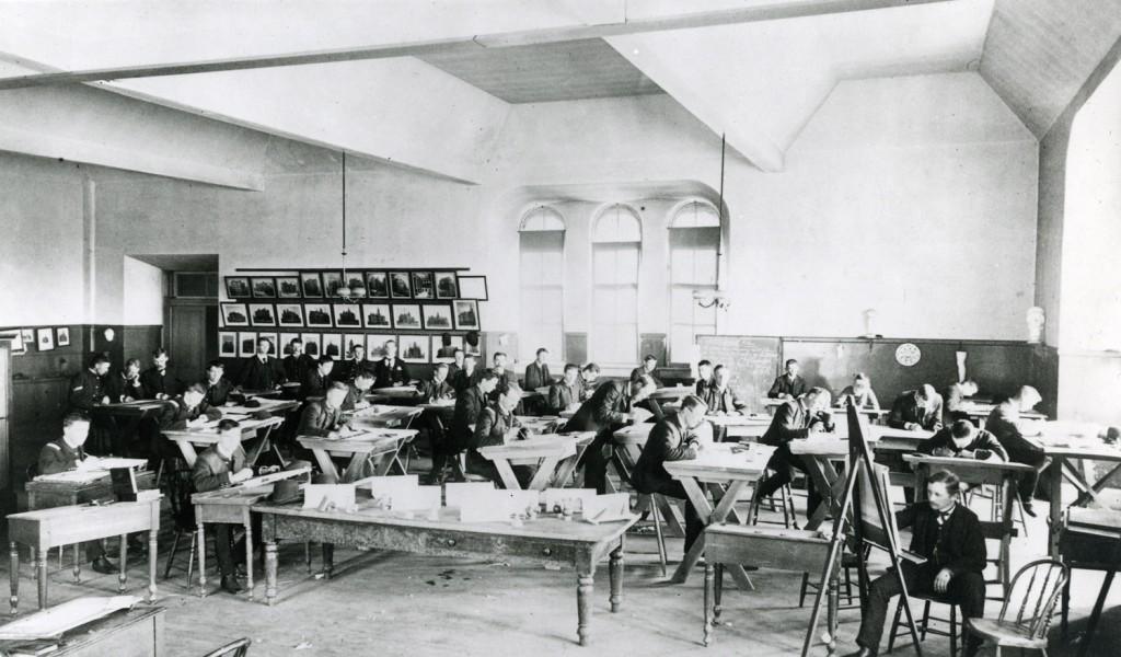Engineering Drawing Class taught by Joseph Bradford, 1889