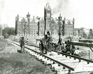 Main Library construction, 1911