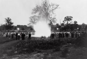 Freshman week cap burning, 1926