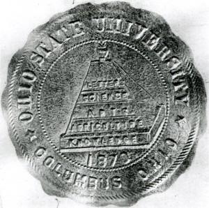 The University's original seal, designed by Sullivant, 1871