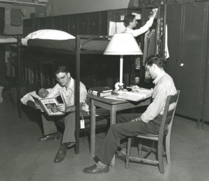 Students in the Stadium Dorm, 1947