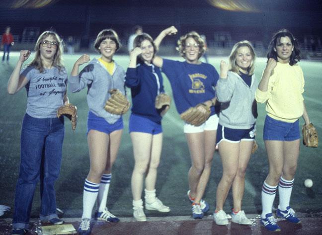 Intramural softball group, 1978