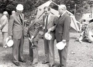 Cancer Institute groundbreaking, 1984