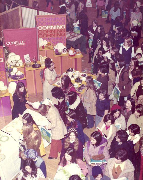 Crowd at bridal fair, 1972