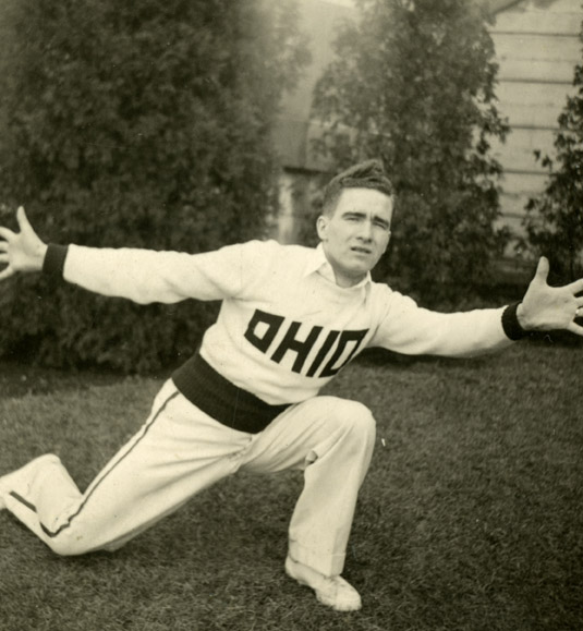 Charles Riegle, Cheerleading, c.1939-40