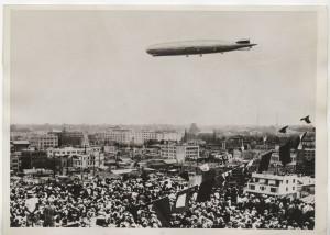 Graf Zeppelin above Tokyo