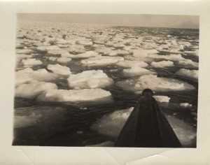 Image of Arctic waters, taken from the deck of the Nautilus.