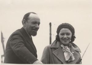 Sir Hubert Wilkins with his wife, Lady Susan.