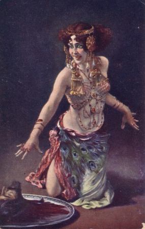 Femme fatale Salome is shown with the head of John the Baptist in this illustration by Leopold Schmutzler