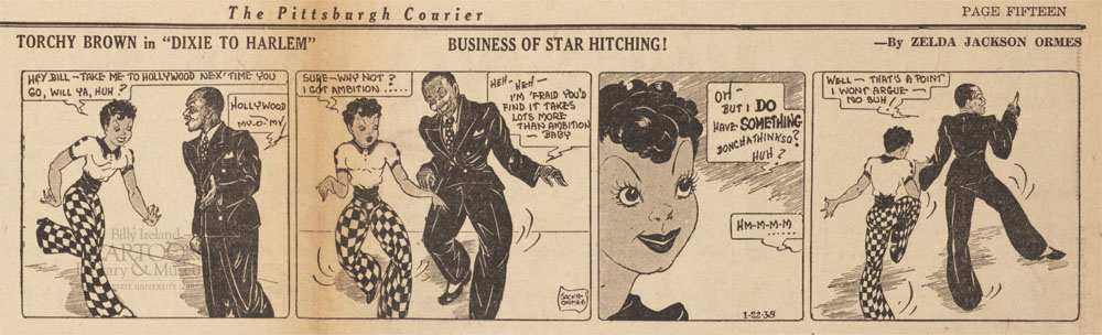 "Jackie Ormes' ""Torchy Brown in 'Dixie to Harlem'"", from the Sam Milai Collection, The Ohio State University Billy Ireland Cartoon Library & Museum"