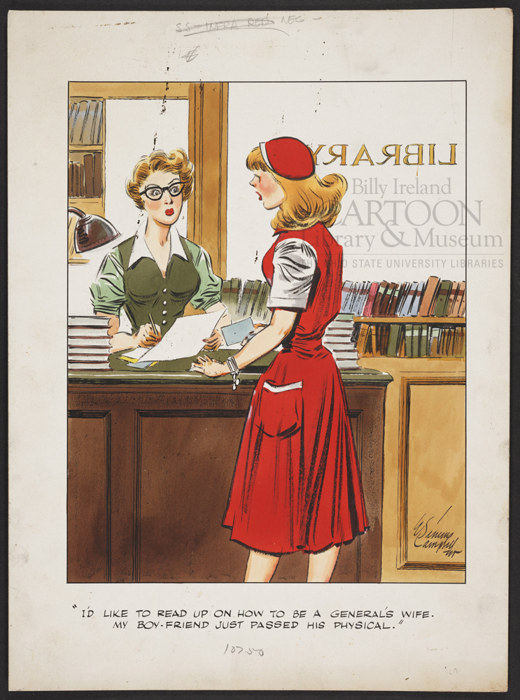 E. Simms Campbell original, from the International Museum of Cartoon Art Collection, The Ohio State University Billy Ireland Cartoon Library & Museum (click to enlarge)