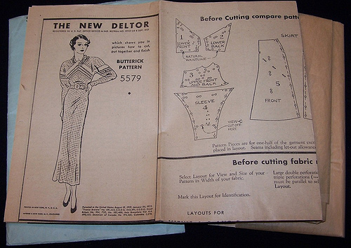 photo of vintage sewing pattern