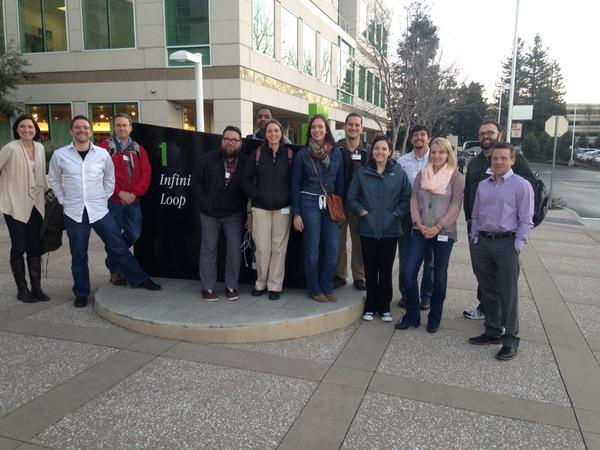 Group photo of OSU faculty and staff at Apple Headquarters