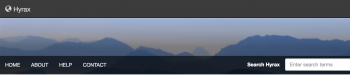 screen capture of the default hyrax header