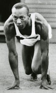 Jesse Owens in high school. Photo date unkown.