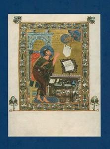 Image of the full-page illumination of St. Luke