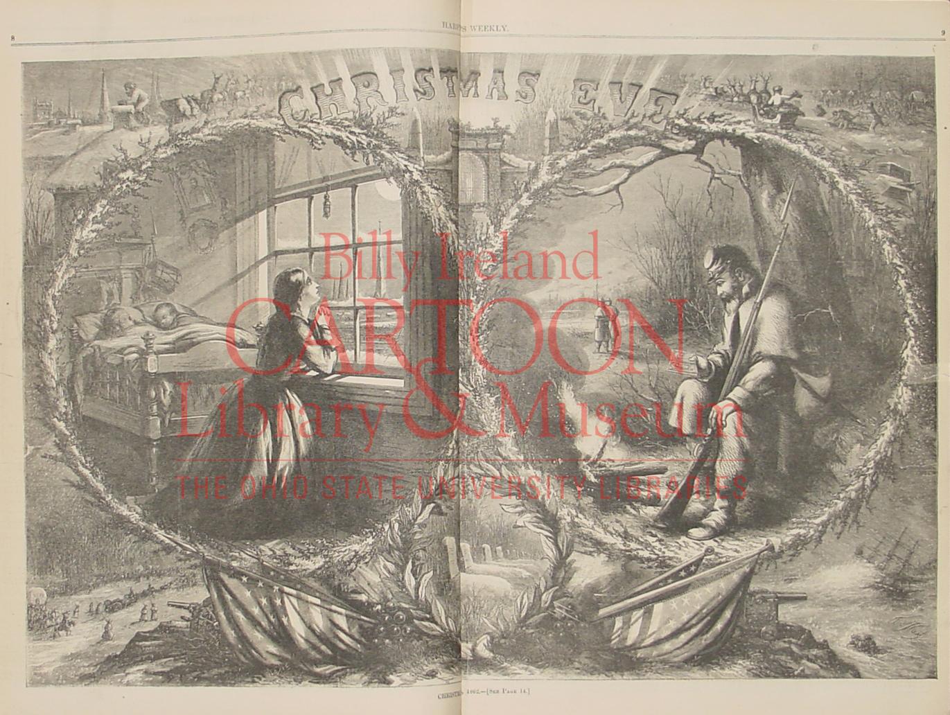 """Christmas Eve 1862"" Harper's Weekly, January 3, 1863, p.8-9"