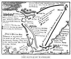 """Van Loon's """"The Battle of Waterloo"""" illustration"""