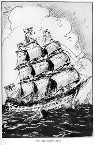Off for Trafalgar Illustration
