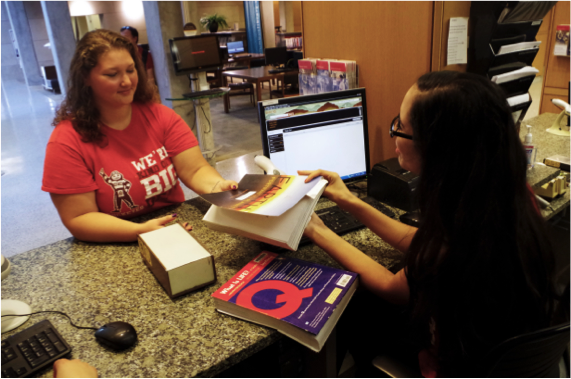 Friendly library staff are happy to assist with finding materials at all service desks.