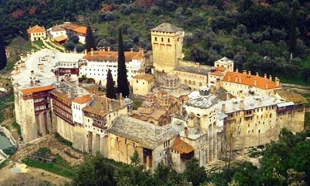 Hilandar Monastery on Mount Athos, Greece