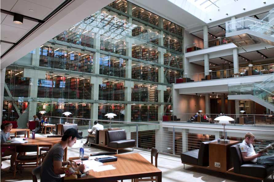 Interior of Thompson Library