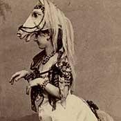dancer in horse costume