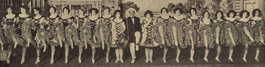 Chorus line from the Charles H. McCaghy Collection of Exotic Dance from Burlesque to Clubs