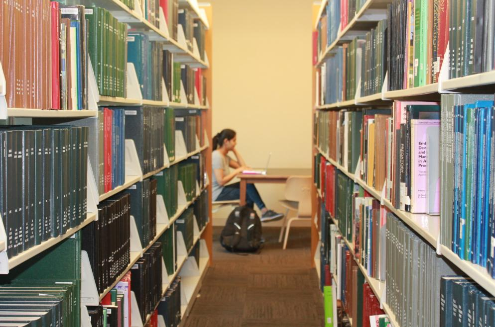 Quiet study in the FAES Library & Student Success Center