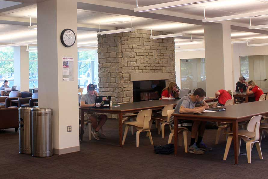 Study space in the FAES Library & Student Success Center