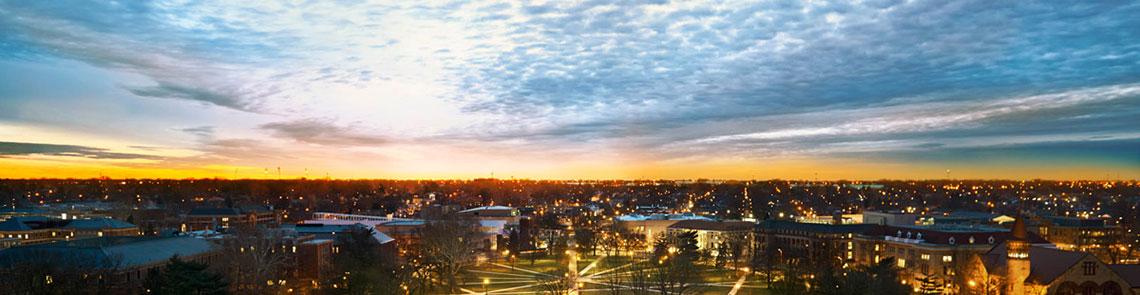 OSU oval at dawn banner image