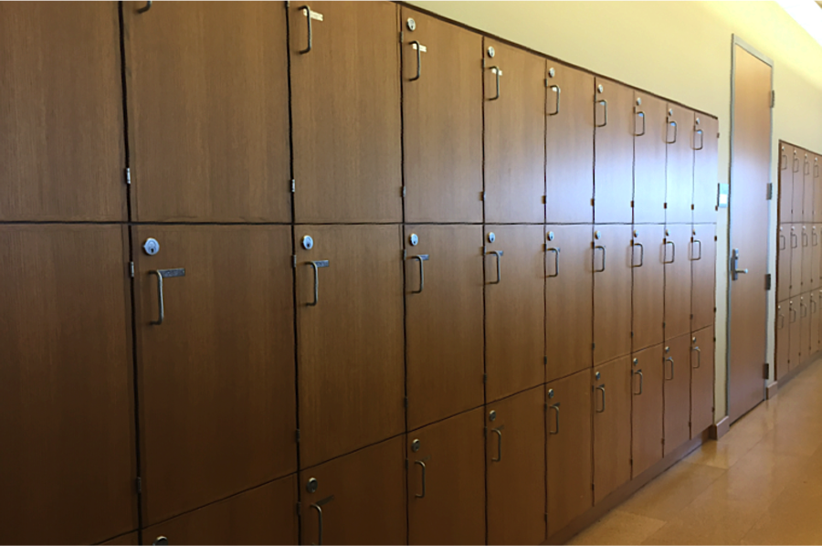 Scholar Lockers on the fourth floor of Thompson Library