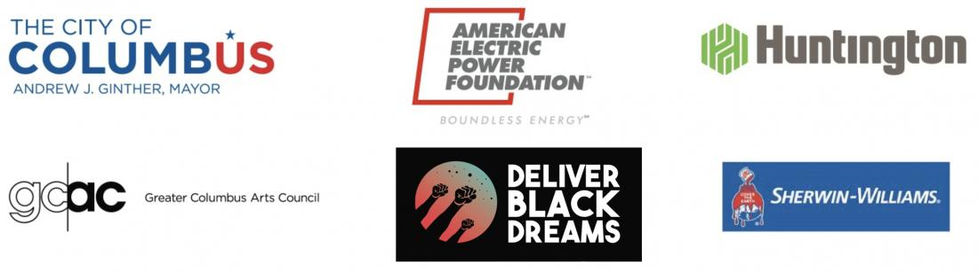Logos: The City of Columbus, American Electric Power Foundation, Huntington, GCAC, Deliver Black Dreams, and Sherwin-Williams