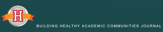 Building Healthy Academic Communities Journal