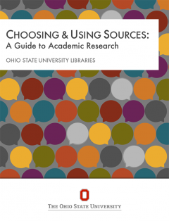 book cover for Choosing & Using Sources: A Guide to Academic Research