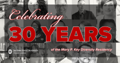 "Graphic depicting past MPK residents with text: ""Celebrating 30 Years of the Mary P. Key Diversity Residency"""